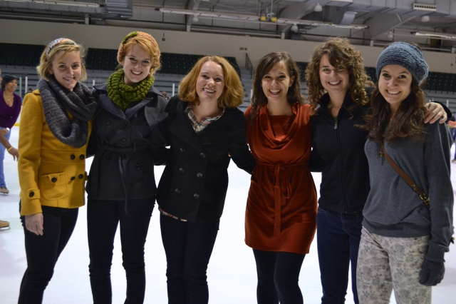 My sweet friends at the ice skating rink yesterday.