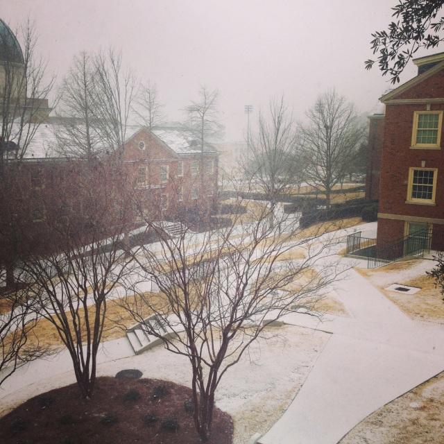 snow at Samford