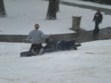 No sled? Just use a mattress.