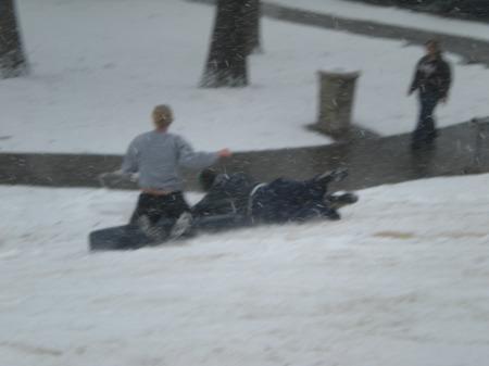 No sled? Just use a mattress.