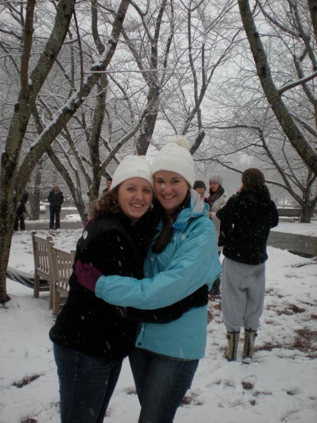 No class, fresh snow, and good friends-- every SU freshman's dream.